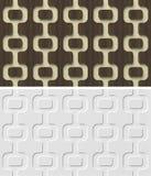 3d安心与抽象几何无缝的样式的墙板。 免版税库存照片