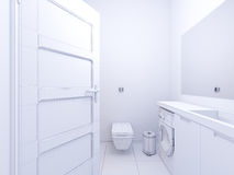 3d室内设计卫生间的例证 图库摄影