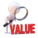 3d小人学习词价值 向量例证