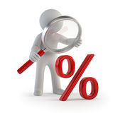 3d小人民-看百分之 免版税库存照片