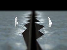 3D峭壁的例证 免版税库存照片