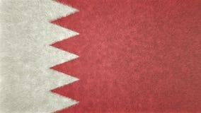 3D巴林的旗子的图象 免版税库存图片