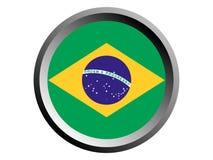 3D巴西的回合旗子 皇族释放例证