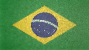 3D巴西的旗子的图象 库存照片