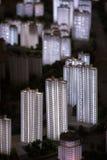 3D市的模型上海 免版税库存图片