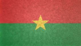 3D布基纳法索的旗子的图象 库存例证
