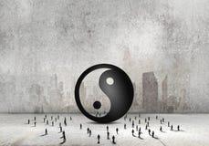 3d平衡概念照片回报了 免版税库存照片