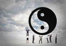 3d平衡概念照片回报了 免版税图库摄影