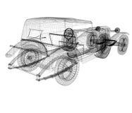3d式样减速火箭的汽车 库存照片