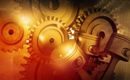 3d引擎活塞和嵌齿轮轮子 免版税库存照片