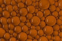 3d很多橙色发光的泡影 皇族释放例证