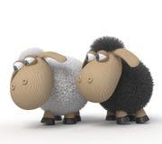 3d快乐的羊羔 免版税库存图片