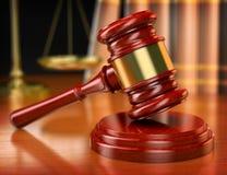 3d惊堂木 3d背景概念例证查出的法律回报了白色 免版税图库摄影