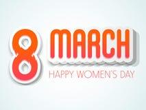 3D愉快的妇女的天庆祝的文本 库存照片