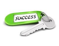 3d成功的钥匙 库存照片