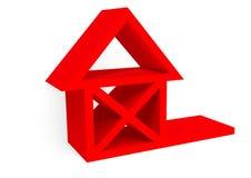 3d房子图标 免版税库存图片