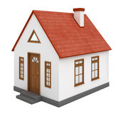 3D房子 免版税图库摄影