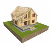 3d房子 免版税库存图片