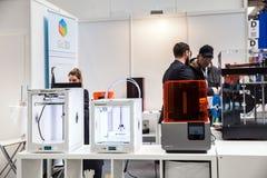 3d打印机在陈列Cebit的Ultimaker iGo3D 2017年在汉诺威Messe,德国 库存图片
