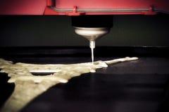 3d打印机打印液体面团 免版税图库摄影