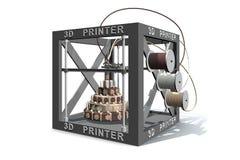 3D打印机打印食物的例证 库存照片