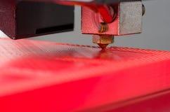 3D打印机特写镜头 免版税库存图片
