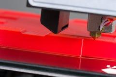 3D打印机特写镜头 图库摄影