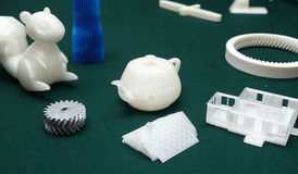 3D打印机-印刷品模型 库存照片