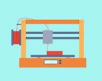 3D打印机 库存例证