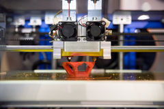 3D打印机- FDM打印 免版税库存照片