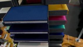 3D打印的五颜六色的塑料细丝 影视素材
