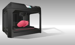 3d打印的内脏打印机 免版税图库摄影