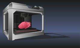 3d打印的内脏打印机 库存照片