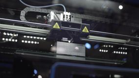 3d打印,创造三维对象,创新在制造业中 股票录像
