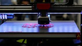 3D打印-与塑料导线细丝的打印 股票视频