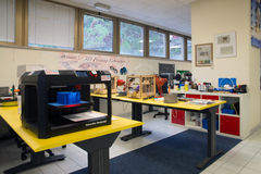 3D打印-意大利科学FabLab 免版税库存照片