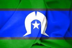 3D托里斯海峡岛民旗子  库存例证