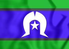 3D托里斯海峡岛民旗子  向量例证