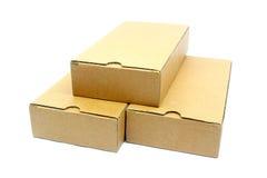 3d把纸板被生成的图象装箱 库存图片