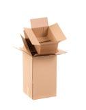 3d把纸板被生成的图象装箱 免版税库存照片