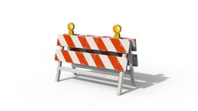 3D折叠的街道障碍 股票录像