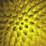 3d抽象例证 边界月桂树离开橡木丝带模板向量 库存照片