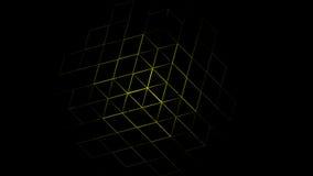3D抽象几何黄色背景 免版税库存照片