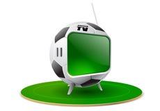 3d抽象橄榄球例证电视 免版税图库摄影