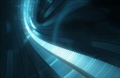 3D抽象科学小说未来派背景 免版税库存图片
