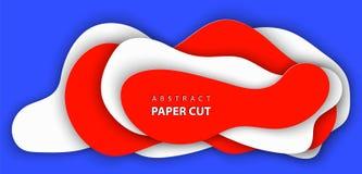 3D抽象纸艺术样式,企业介绍的设计版面,飞行物,海报,横幅,装饰,卡片,小册子盖子 向量例证