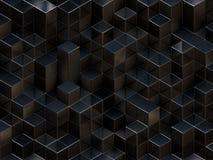 3d抽象背景多维数据集 免版税库存图片