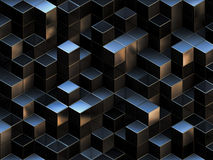 3d抽象背景多维数据集 库存例证
