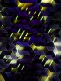 3d抽象背景多维数据集 皇族释放例证