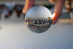 3d抽象背景球玻璃 免版税库存照片